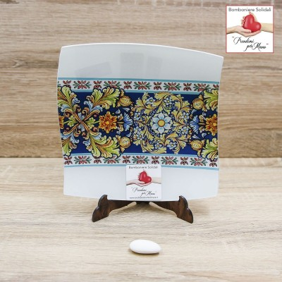 Svuotatasche Piccolo Floreale in Blu Prendimi per Mano Solidale