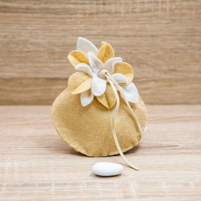 Sacchetto Fiore Giallo e Bianco Orchidea