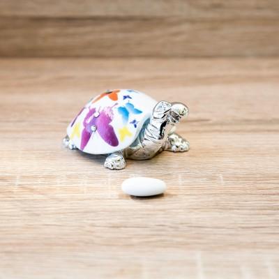 Tartaruga Argento con Farfalle Lully Argenti