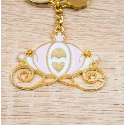 Portachiavi Carrozza Rosa Oro 24Kt Personalizzato Orchidea