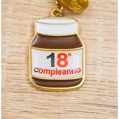 Portachiavi Nutella 18 Anni Oro 24Kt Personalizzato Orchidea