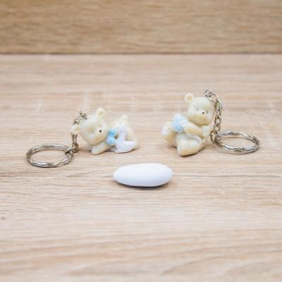 Portachiavi Orsetto Celeste Orchidea