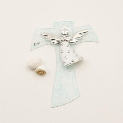 Croce con Angelo Azzurra Lully Argenti