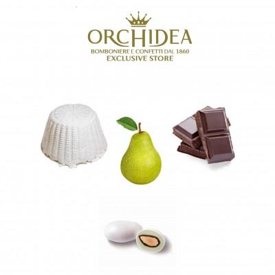 Confetti Ricotta e Pera al Cioccolato Orchidea
