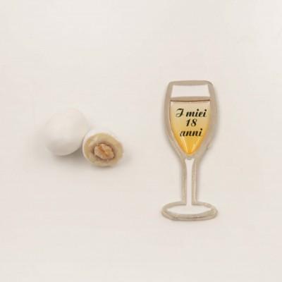 Magnete Calice Champagne 18 Anni