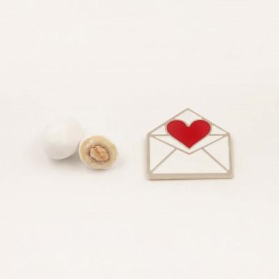 Magnete Lettera Cuore Rosso