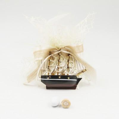 Sacchetto con Magnete Veliero Orchidea