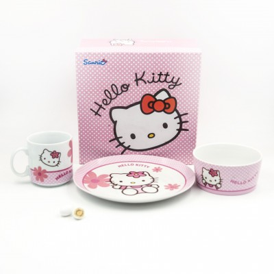 Set Tazza Piatto Ciotola Hello Kitty