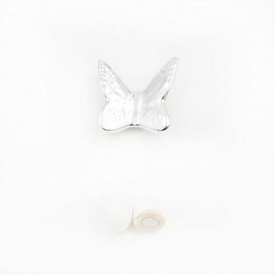 Magnete Farfalla Argento Orchidea