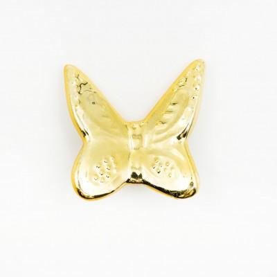 Magnete Farfalla Oro Orchidea