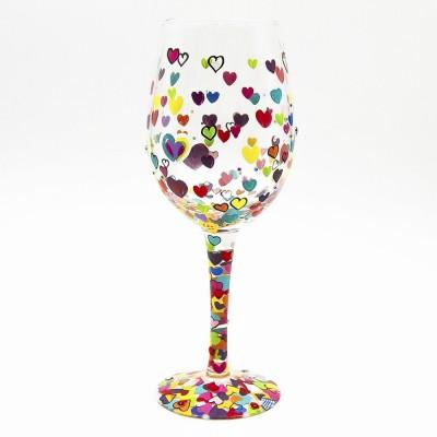 Bicchiere Vino Cuori Lolita
