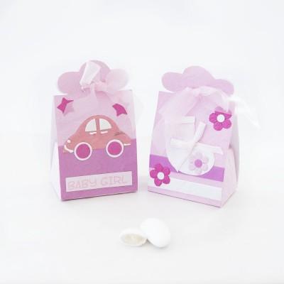 Portaconfetti Baby Girl Orchidea