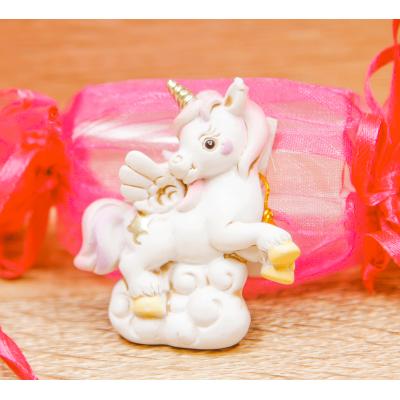 Caramella Portaconfetti con Magnete Unicorno Orchidea