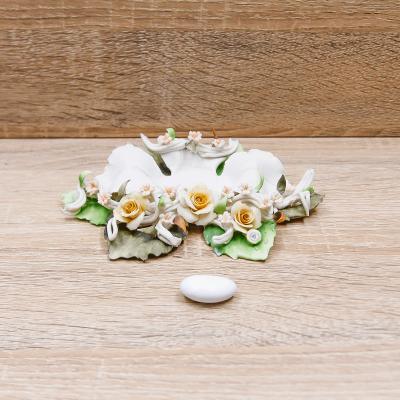 Portacandele Fiore Linea Rose Porcellane di Capodimonte