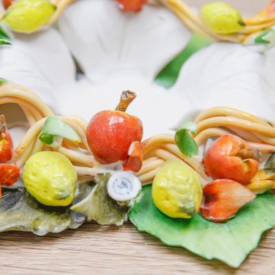 Portacandele Fiore Linea Frutta Porcellane di Capodimonte
