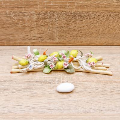Tralcio Limoni e Fiorellini Linea Limoni Porcellane di Capodimonte