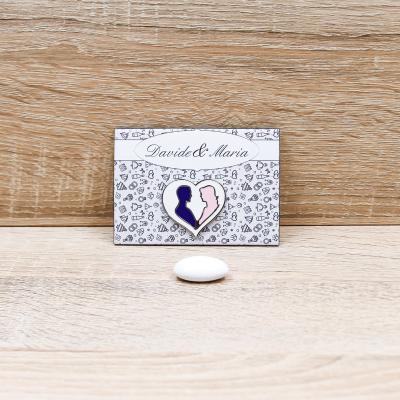 Magnete con Cuore Linea Matrimonio