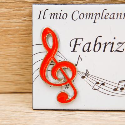 Magnete Personalizzato Nota Linea Musica Orchidea