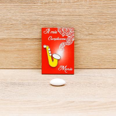 Magnete Personalizzato Sassofono Linea Musica Orchidea